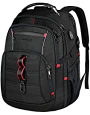 KROSER Travel Laptop Backpack 17 Inch Large Computer Backpack Stylish College Backpack with USB Charging Port & RFID Pockets Water-Repellent Day Pack for School/Business/Men/Women-Black