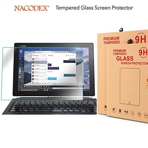 Lenovo ideapad MIIX 700 Screen Protector, Nacodex Premium Tempered Glass Screen Protector for Lenovo ideapad MIIX 700 (9H Hardness (700 Glasses)