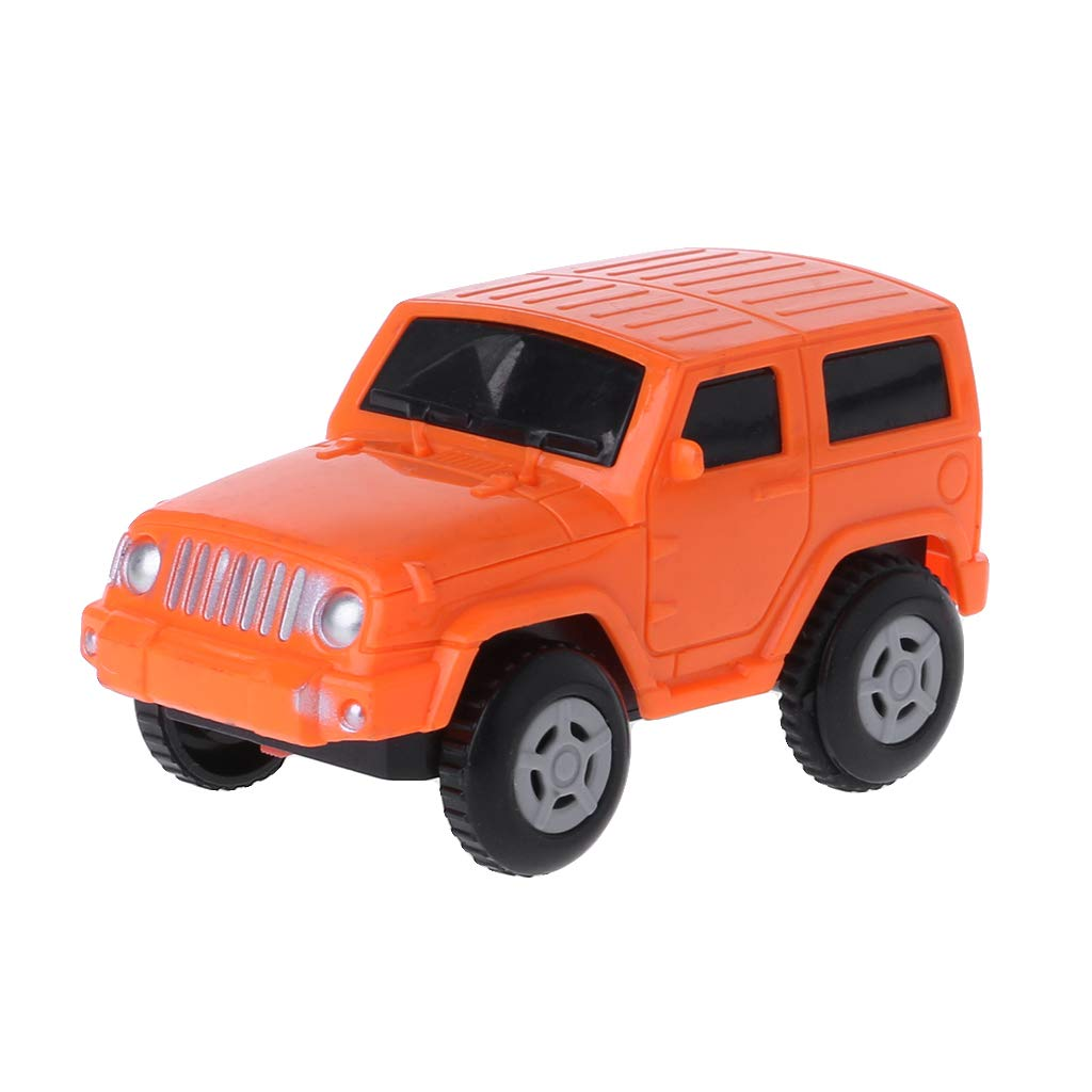 Dabixx Car Toy, Rail Track Car Electronic Battery Power Toy for Children Kids Christmas Birthday Gift