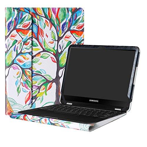 Alapmk Protective Case Cover For 12.3 Samsung Chromebook Pro XE510C24 XE510C25/Chromebook Plus XE513C24 Laptop(Warning:Not fit New Samsung Chromebook Plus V2 XE521QAB-K01US),Love Tree