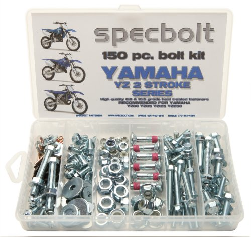 150pc Specbolt Bolt Kit for Yamaha YZ 80 85 125 250. For Maintenance Upkeep and partial Restoration. OEM Spec Fasteners YZ80 YZ85 YZ125 YZ250