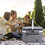 ALLCAMP Large Size Picnic Basket Cooler portable
