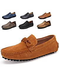 Mens Classic Suede Loafers Moccasins Casual Slip On Driving Shoes …