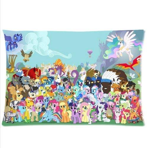 Hot Anime Rainbow Pony Custom 2 Sides Pillowcase My Little Pony Pillow Case (02, 20x30inch)
