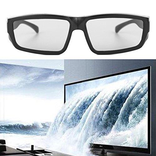 BushYou Circular Polarized Passive 3D Stereo Movies Glasses Eyeglass Black H4 For TV Real D 3D Cinemas
