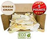 """Premium Thick Cut Chips, Large (7""""x3"""") Wholegrain Rawhide (Last much longer than traditional chips). 100% Natural Dog Chew Treat. No artificial preservatives or chemicals. (5 POUNDS)"""