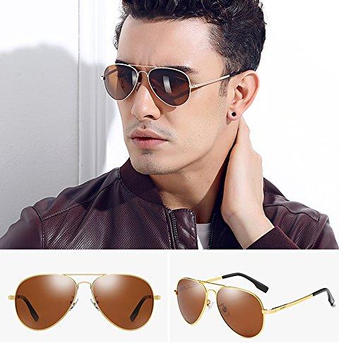 Sol Hombres TESITE Polarizadas UV Espejo Brown Gafas para 100 De Gafas Anti aqAAwfYx
