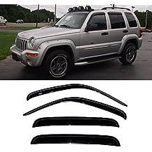 Gldifa Wind Deflector For 2002-2007 Jeep Liberty Sun/Rain Guard Vent Shade Window Visor 4pcs