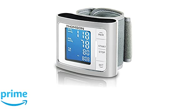Thomson TTMB1014 - Tensiómetro de muñeca eléctrico, pantalla LCD, compatible con iOS y Android, color gris: Amazon.es: Salud y cuidado personal
