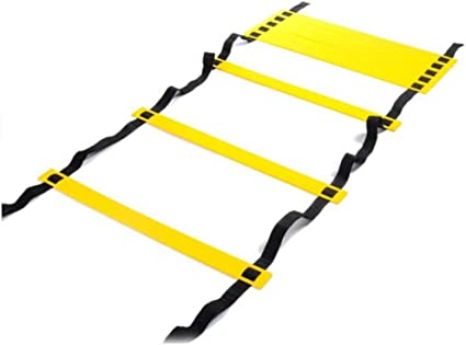 bal/ón de f/útbol de 4 m Flexibilidad de f/útbol Escalera de Salto de Entrenamiento de Velocidad de Entrenamiento f/ísico Starbun Escalera de Velocidad
