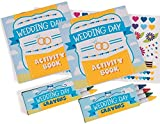 Fun Express Wedding Day Kids Activity Books with Stickers and Crayons, Two Dozen