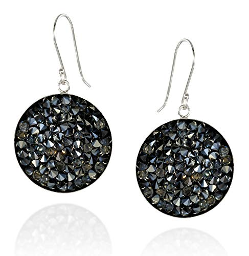 - Pavé Crystal Rock Cluster Earrings in 925 Sterling Silver Bezel Made with Original Swarovski Crystals