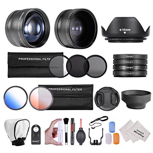 Neewer 58MM Professional Camera Lense Filter Accessory Kit for CANON EOS REBEL 700D 650D 600D 550D 500D 450D 400D 350D 100D (T5i T4i T3i T2i T1i XSi XTi XT SL1)