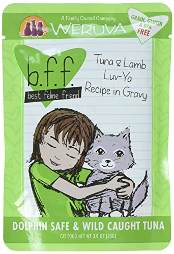 BFF Tuna & Lamb Luv Ya Recipe in Gravy Cat Food Pouches, 3-oz pouch, case of 12