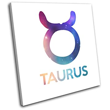Amazon Bold Bloc Design Zodiac Symbols Taurus Space Starsign