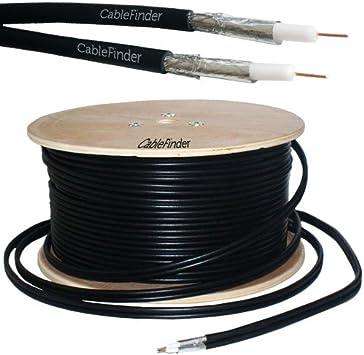 50 m RG6 Twin COAXIAL Cable, 50 – Antena parabólica lnb- Sky +/HD, Freesat