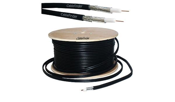 100 m RG6 TWIN COAXIAL CABLE alargador bifilar para: Amazon.es: Electrónica