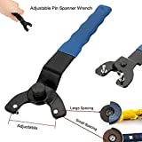 Marketworldcup Adjustable Pin Spanner Wrench 8-50mm Heavy Duty For Angle Grinder Hubs Arbors