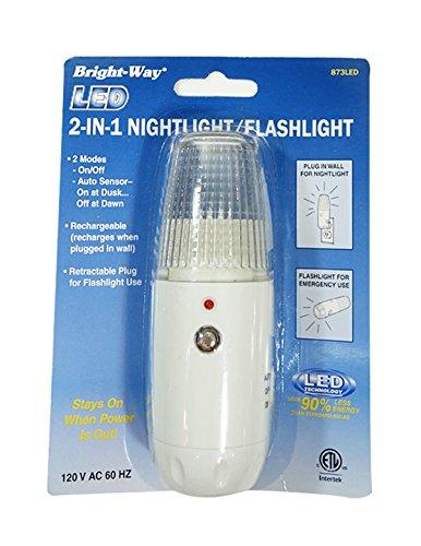 Bright-Way 2-In-1 LED Nightlight and Flashlight Combo