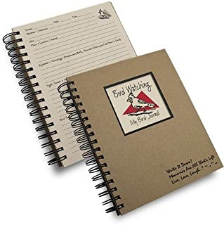 product image for Bird Watching Prompt Journal/notebook Spiral Bound - Hard Cover and Eco Friendly