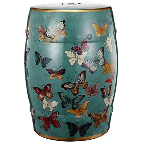 A&B Home Ceramic Garden Stool Butterfly Design 14