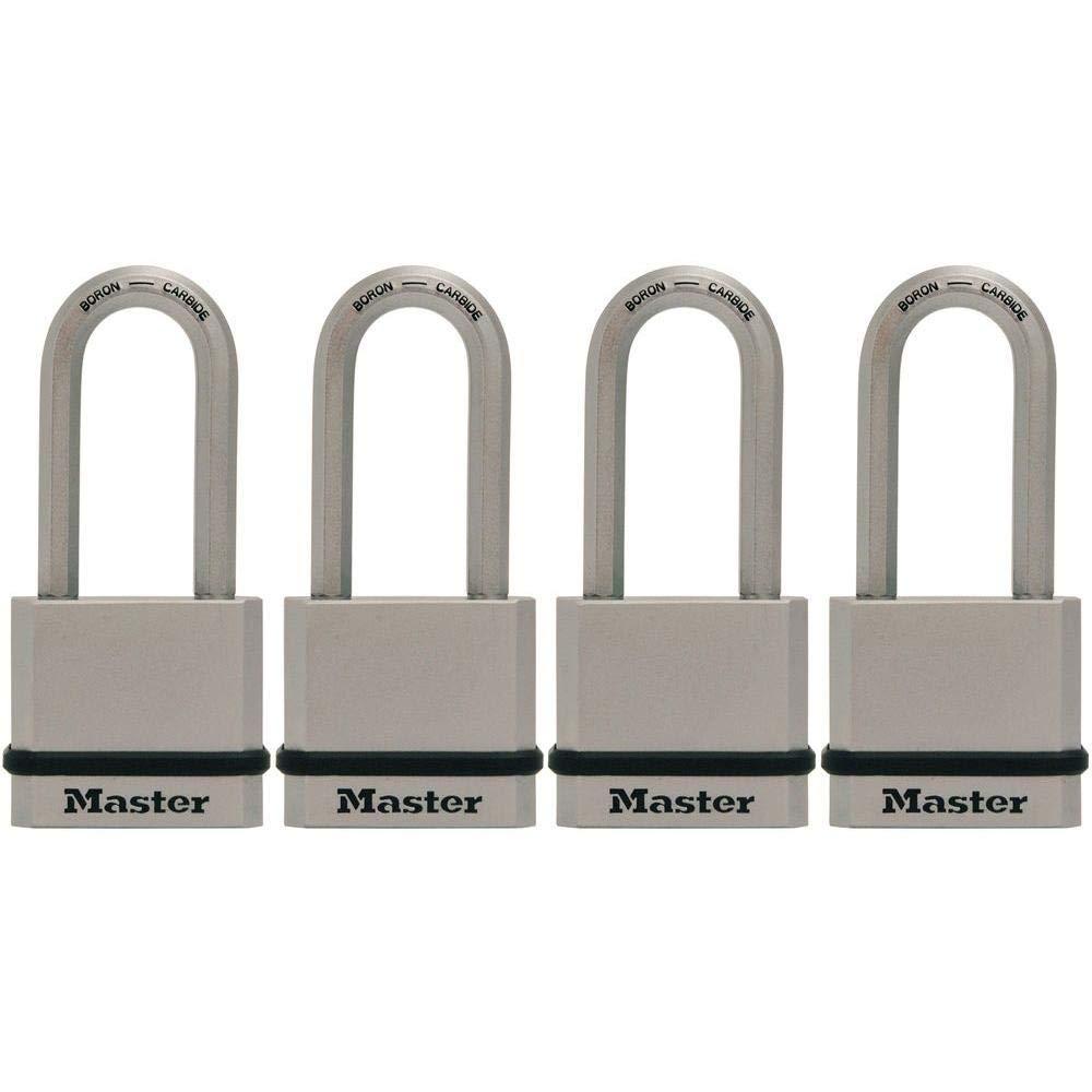 Master Lock M530XQLH Magnum Solid Steel Keyed Alike Padlocks, 4 Pack by Master Lock