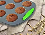 Megrocle Mini Silicone Muffin Pan Set of 2, Non