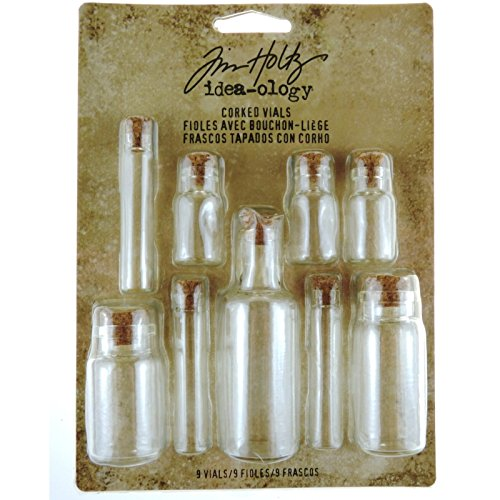 Corked Vials by Tim Holtz Idea-ology, 9 Glass