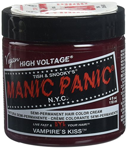 Manic Panic Classic Cream Vampire's Kiss Semi-Permanent Formula Hair Dye, Red, 4 oz