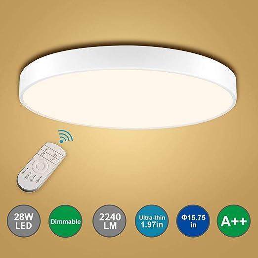 Bellanny LED Deckenleuchte, 28W 2240LM 3000 6000K