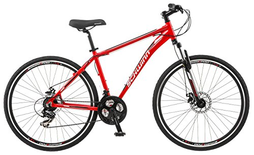 Schwinn GTX 2.0 700c Men's Dual 18 Sport Bike, 18-Inch/Medium, Red (Schwinn Suspension Bike Dual)