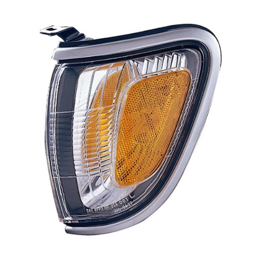 Toyota Tacoma 2WD & 4WD Pickup Truck Corner Park Lamp (With SILVER Trim Bezel) Turn Signal Marker Light Left Driver Side (01 02 03 04) (Tacoma 2wd Signal Lamp)