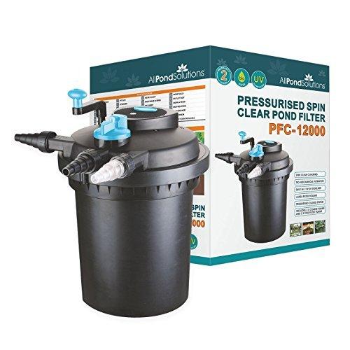 All Pond Solutions Pressurised Koi Fish Pond Filter/UV Steriliser for...