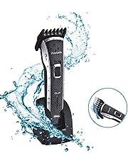 DSP Haarscherer, Elektrische Wasserdicht Haarschneidemaschine, Klinge aus rostfreiem Stahl Bartschneider, Wiederaufladbar, MEHRWEG