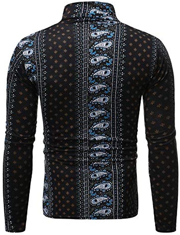 E/A Męski sweter z dzianiny top, na jesień i zimę, styl casualowy, z długim rękawem, na co dzień, ciepły krÓj slim fit: Odzież