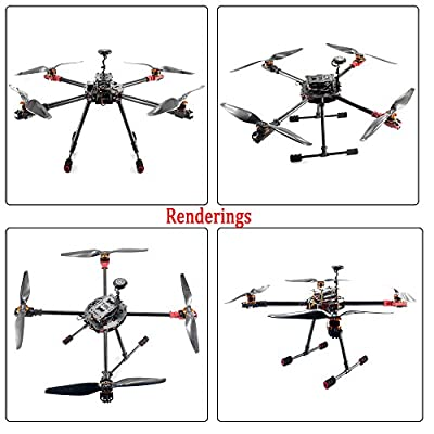 DIY 2.4GHz 4-Axis Drone Quadcopter RC Drone 630mm Carbon Fiber Frame Kit MINI PIX+GPS Brushless Motor ESC Altitude Hold Kit
