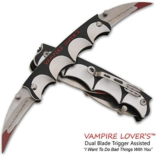 Vampire Lover s Trigger Assisted Dual Knife