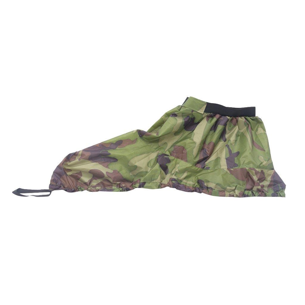 Desconocido Universal Nylon Ajustable Spray Skirt Deck Faldón kayak Canoa Barco Accesorio - Woodland Camo Generic
