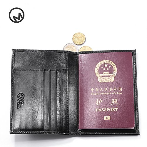 213e976b08df OMcolor Men's Bifold Passport Wallet Credit/ID Card Genuine Leather ...