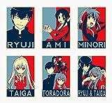 Wall Art Toradora Anime Characters Ryuji Ami Minori