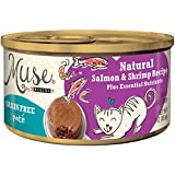 Muse by Purina Grain-Free Pate Natural Salmon & Shrimp Recipe Adult Wet Cat Food - (24) 3 oz. Cans