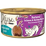 Muse By Purina Grain-Free Pate Natural Salmon & Shrimp Recipe Adult Wet Cat Food – (24) 3 Oz. Cans