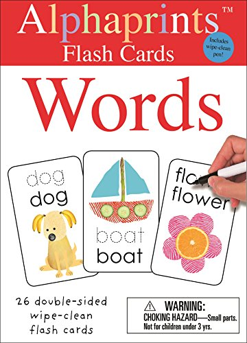 - Alphaprints: Wipe Clean Flash Cards Words (Wipe Clean Activity Flash Cards)