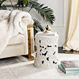 Safavieh Cloud Ceramic Decorative Garden Stool, White