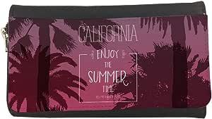 محفظة مصنوعة من الجلد بطبعة تمتع بالصيف