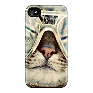 Durable Defender Case For Iphone 4/4s Tpu Cover(cool Cat)