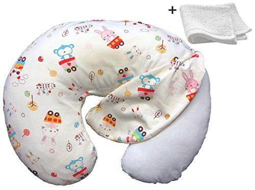 Nursing Pillow Cover Hypoallergenic for Newborn Girls and Boys, Breastfeeding Moms Slipcover Cushion Case + Soft Washcloth + Digital Bedtime Story by Mafflo by Mafflo