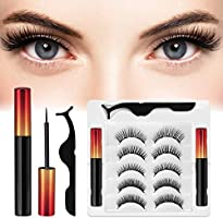 [5 Pairs] Magnetic Eyelashes with Eyeliner , 2 Tubes of Magnetic Eyeliner and Magnetic Eyelash Kit , Natural Look &...
