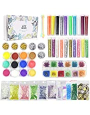 38 Pack Resin Supplies Kit LET'S RESIN Resin Jewelry Supplies for Resin, Slime, Nail Art, Polymer Clay, DIY Craft, Including Glitter,Slices,Mylar Flakes,Dry Flowers, Beads,Wheel Gears