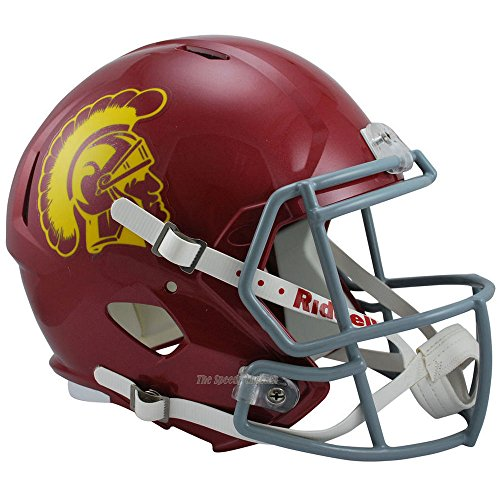 USC Trojans Officially Licensed NCAA Speed Full Size Replica Football Helmet by Riddell